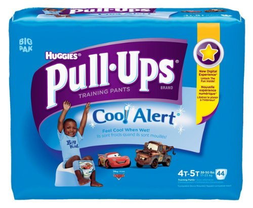 Huggies Pull-Ups Training Pants with Cool Alert, Boys, 4T-5T, 44 Count (Cool Alert Training Pants compare prices)