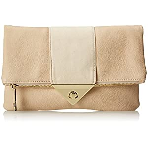 Steve Madden Bmystie Flap Over Clutch,Sand,One Size