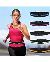 élastique sac double glissière multi-fonctionnelle ceinture poches de sport Sports Packs sac de téléphone portable de taille Boolavard