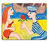 MSD Natural Rubber Mousepad Knelling man courtship a beautiful woman IMAGE 35759975