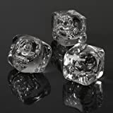 Acrylic Ice Cubes - Pack Of 40 (approx.) | Fake Ice Cubes, Decorative Ice Cubes, Plastic Ice Cubes, Display Ice...