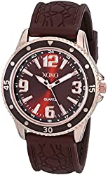 XOXO Women's XO8050 Brown Strap with Brown Bezel Analog Watch