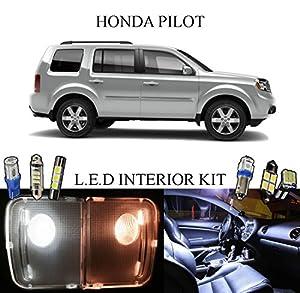 2014 Honda Pilot Xenon White Led Interior Package Vanity Lights 13 Pieces