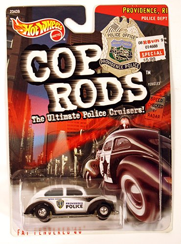 Hot Wheels 1999 Cop Rods: Providence RI Fat Fendered '40