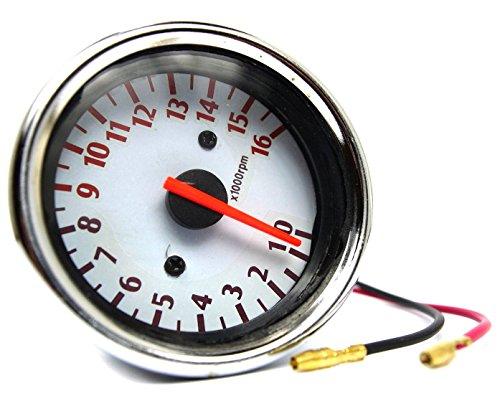 汎用 バイク 電気式 タコメーター & 機械式 スピードメーター (スピードメーター単体)