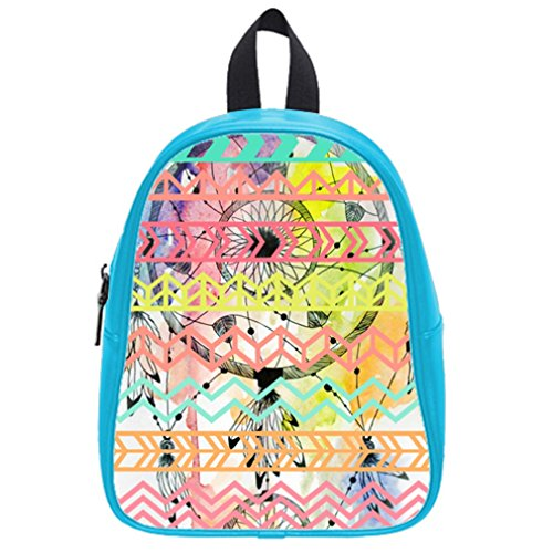 Fashion Funny Dream Catcher Aztec Tribal Hot Pink School Bag & Backpack Blue front-923337