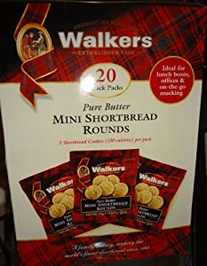 Walkers Mini Shortbread Rounds Snack Pack, Pure Butter, 13.4 Ounce