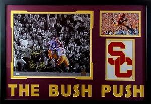 Bush Push Reggie & Matt Leinart Framed 16x20 Signed USC Trojans AA & JSA COA... by Mister Mancave