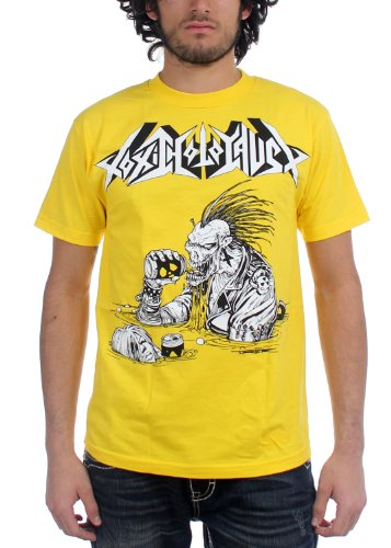 Toxic Holocaust Mens Lord of the Wasteland-Maglietta, colore: giallo giallo