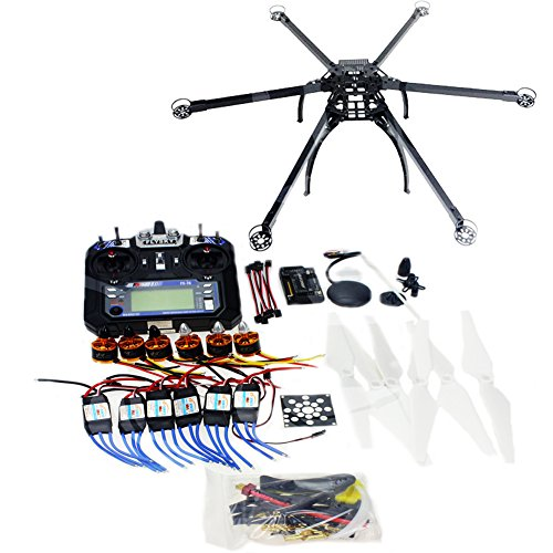 QWinOut-DIY-FPV-Drone-Multicopter-ARF-Unassembly-Kit-Folding-Hexacopter-APM-28-Flight-Controller-GPS-Flysky-FS-i6-6CH-24G-TXRX-No-Battery-and-Charger