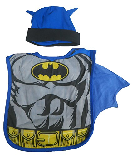 DC Batman Boys Infant Hat and Bib Set 0 - 9 Months [5011] - 1