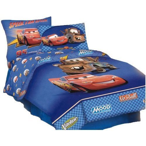 cheap disney pixar cars full comforter lightning mcqueen mater blue