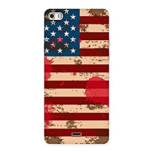 Delighted Grunge USA Flag Multicolor Back Case Cover for Micromax Canvas Silver 5