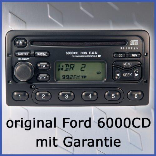 original Ford Autoradio CD6000 für Fiesta, Focus,