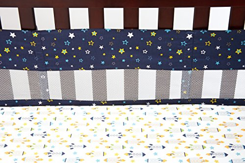 NoJo Secure Me Crib Liner, Out of this World