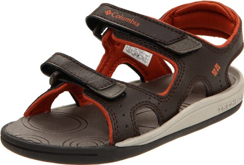 Columbia Sportswear Techsun Sport Sandal (Toddler/Little Kid/Big Kid),Cordovan/Cedar,4 M US Big Kid