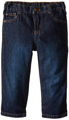 Wrangler Little Boys' Toddler Relaxed Straight Jean, Blackened Blue, 4T (4t Boys Pants compare prices)