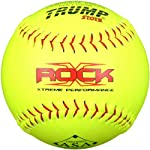 Trump® X-ROCK-RP-ASA-Y The Rock® Series 12 inch Yellow Composite Leather Softball with ASA Stamp (Sold in Dozens)