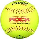 Trump� X-ROCK-RP-ASA-Y The Rock� Series 12 inch Yellow Composite Leather Softball with ASA Stamp (Sold in Dozens)