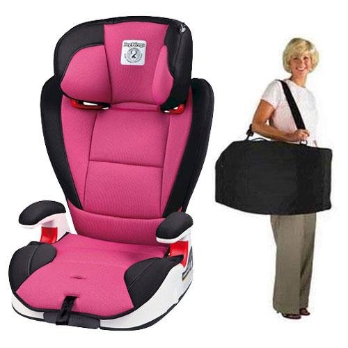 Peg Perego Viaggio Hbb 120 Car Seat In Fucsia - Hot Pink With Carrying Case front-969744