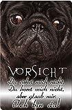 +++ MOPS - Metall WARNSCHILD Schild Hundeschild Sign - MOP 24 T2