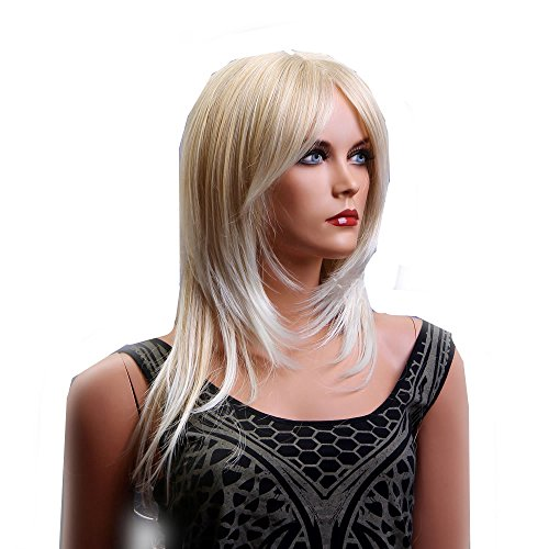 long goldenblonde women lady wigs