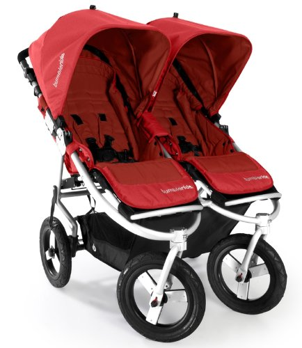 Bumbleride Indie Twin Jogging Double Stroller, Cayenne Red