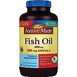 Nature Made Fish Oil, 1000 mg, Liquid Softgels, 250 softgels