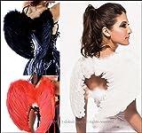 天使の羽根コスプレ衣装エンジェルセクシーコスチュームハロウィン仮装レディース(ブラック)