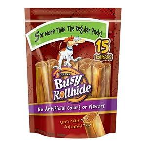 Busy Rollhide Dog Treats 15 Rolls, 20 Oz. pack