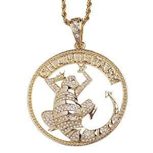 ICED OUT Bling Pendant - Chamillitary gold