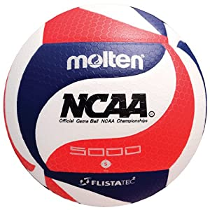 Molten FLISTATEC® Volleyball - Official NCAA Men's Volleyball, Red/White/Blue