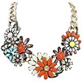 Eyourlife Delicate Luxurious Flower Chain Collar Choker Statement Bib Necklace Pendant Jewelry
