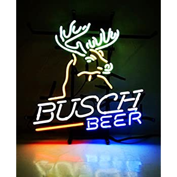 "New Neon Signs Busch Beer for Bar Pub Home Hotel Beach Cocktail Recreational Game Room Decor 16"" x 15"""