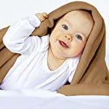 Throw Blanket Fleece Blanket Supersoft Warm 150x200 cm (Beige)by Jago