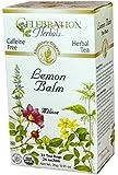 Celebration Herbals Organic Lemon Balm Tea Caffeine Free -- 24 Herbal Tea Bags