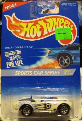 Hot Wheels Sports Car Series Shelby Cobra 427 S/C 3/4 WHITE #406