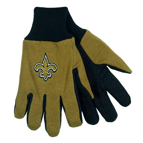 NFL Football Multi Color Team Logo Sport Gloves - Pick Team (New Orleans Saints)