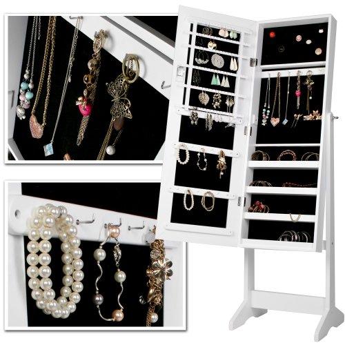 Miroir Sur Pied En Bois Bijoux : Pin Armoire ? Bijoux Sur Pied Avec Un Grand Miroir Comme Porte L on
