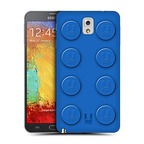 Head Case Designs Blue Building Blocks Replacement Battery Back Cover for Samsung Galaxy Note 3 N9000 N9002 N9005