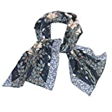 Lilies Silk Crepe Scarf||EVAEX