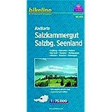 """Bikeline Radkarte: Salzkammergut. Salzburg - Gmunden - Hallein - Bad Ischl - Mondsee - Wolfgangsee - Attersee - Traunsee - Tennengau, RK-A05. 1 : 75.000, wasserfest/rei�fest, GPS-tauglich mit UTM-Netzvon """"Esterbauer"""""""