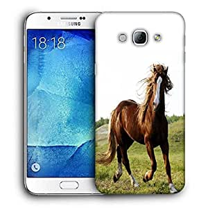 Snoogg Running Horses Printed Protective Phone Back Case Cover For Samsung Galaxy Note 5