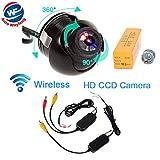 Auto Wayfeng® ワイヤレス360度車のフロントビューCCD広角防水フロントカメラなしミラー&駐車場なしライン