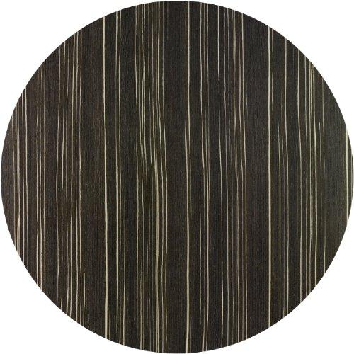 Werzalit / hochwertige Tischplatte / Safari braun / runde Form 60 cm / Bistrotisch / Bistrotische / Gartentisch / Gastronomie
