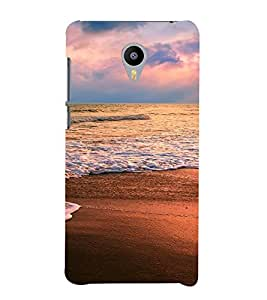 PrintVisa Travel Beach Sunset Design 3D Hard Polycarbonate Designer Back Case Cover for Meizu MX5