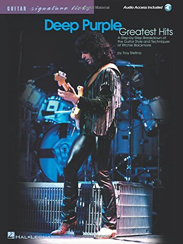 Deep Purple Greatest Hits: Signature Licks  (Book&CD) (Guitar Signature Licks)