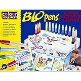 Color Workshop Blopens - Juego creativo de bolígrafos de soplar (15 bolígrafos y plantillas)