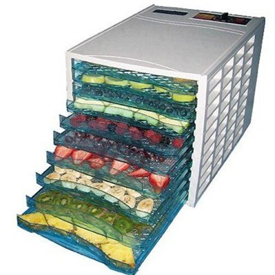 SamsonGreen G4U FD10T 10-Tray Food Dehydrator with 40-hour Digital Timer - White by SamsonGreen