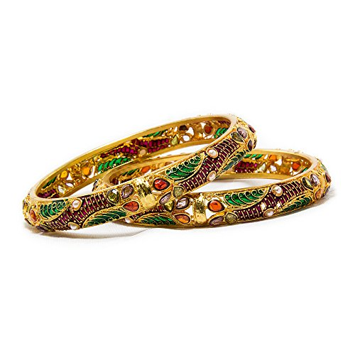BDF Imitation Jewellery Gold plated Brass Bangles set For Women_SKU11 (yellow)